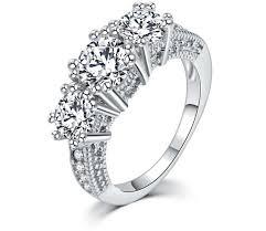 promise rings white images White gold promise rings for her wedding engagement ring new jpg