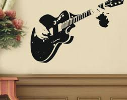 Guitar Home Decor Guitar Wall Decal Etsy