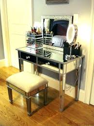 glass vanity table with mirror vanity set with mirror and lights silver makeup vanity mesmerizing