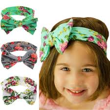 elastic headbands baby girl headbands polka dot ribbon bow headband flower elastic