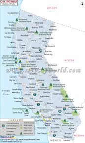 Map Of New Mexico With Cities by California National Parks Map List Of National Parks In California
