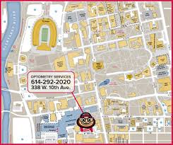 Ohio Colleges Map by Campus Map Ohio State Optometry Services The Ohio State University