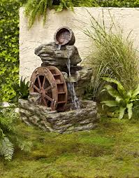 garden oasis lighted rock with wheel fountain shop your way