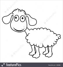 cartoon sheep vector lamb