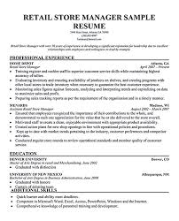 executive sample resume sample cv targeted at fashion retail positions and chronological resume retail manager examples with resume for retail sales associate with no experience