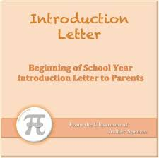 introduction letter to parents by ashley spencer tpt