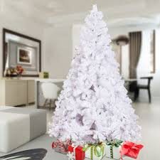 6ft christmas decoration tree white pine 800 tips pine metal stand
