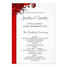 wedding reception program template wedding reception program template template business