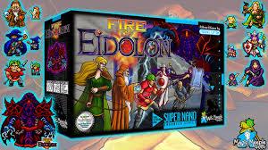 fire of eidolon 16 bit inspired co op dungeon board game by