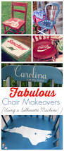 How To Paint And Stencil by Stenciled Painted Chairs Using A Silhouette Machine Atta Says