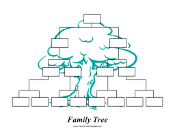 this printable inverted family tree starts at the top of the page