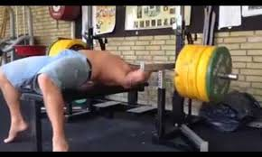 Bench Press No Spotter Gym Dude Nearly Kills Himself Lifting Heavy Weights Without A