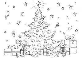 free christmas tree coloring pages print 65899