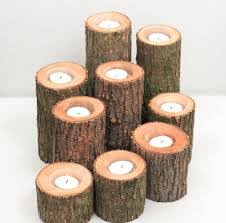 tree branch candle holder rustic wedding centerpieces