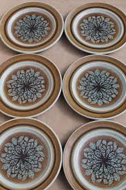 franciscan dishes mod vintage franciscan earthenware nut tree salad plates retro