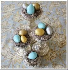 easter egg display speckled gilded easter eggs easter egg and centerpieces