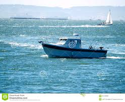 sport fishing boat on san francisco bay royalty free stock images
