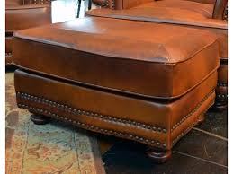 Brown Leather Ottoman Lg Interiors Cowboy Cowboy Leather Ottoman Great American Home