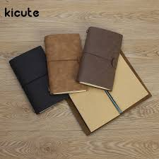 travel notebook images Kicute retro leather cover notebooks diary journals agenda blank jpg