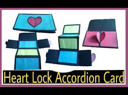 tutorial scrapbook card heart lock accordion card tutorial how to make scrapbook card