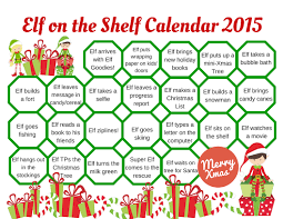 2015 elf on shelf calendar a grande life