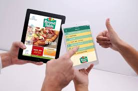 round table pizza app round table pizza android app is out bay app studios inc