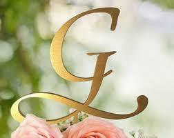 g cake topper gold j cake topper etsy