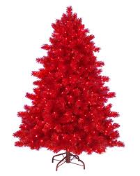 5 u0027 ashley red christmas tree with clear lights christmas tree market