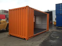 shipping container conversion for interior design company