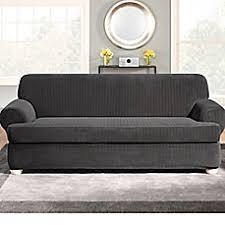 Surefit Sofa Covers by Sure Fit Stretch Pinstripe 2 Piece T Cushion Sofa Slipcover Bed