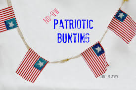 4th Of July Bunting Decorations Savvy Diy Crafts Archives Chicnsavvy Reviews