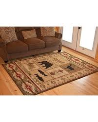 5 X7 Area Rug Amazing Deal On Rustic Lodge Brown 5x7 Area Rug 5 3x7 3