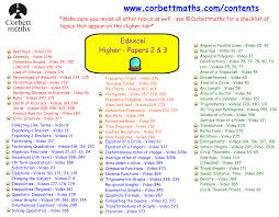 edexcel papers 2 u0026 3 predicted papers 2017 corbettmaths