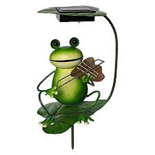 solar frog light in the sun with solar powered items above beyondabove