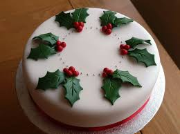 simple decorating a christmas cake ideas design decorating