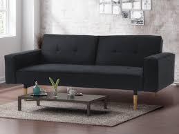 canapé anthracite canapé 3 places et fauteuil clic clac en tissu seduva