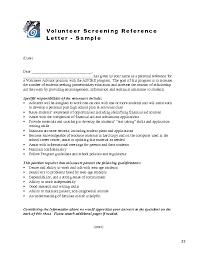 volunteer recommendation letter sample letters font