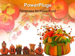 powerpoint template a beautiful depiction of thanksgiving with