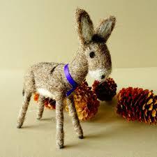 donkey christmas ornament needle felted donkey christmas tree
