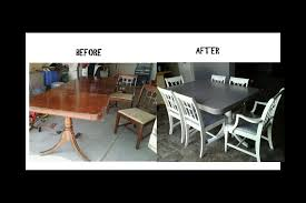 md designs dining room table makeover amazing what a little sanding primer and paint can do i think i will keep this table for a while i have a tendency to change out my table every year or