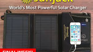 Ultimate Solar Panel by Sunjack Solar Charger Portable Energy Independence By Harold