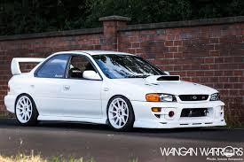 subaru sedan white that frozen white subaru impreza sti wangan warriors