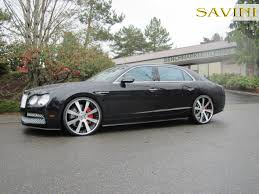 matte black bentley flying spur flying spur savini wheels