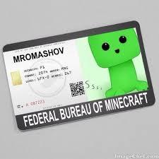 bureau minecraft minecraft i d card minecraft amino