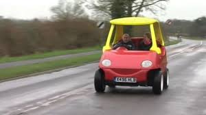 kid car mechanic builds grown up version of childhood classic little tikes