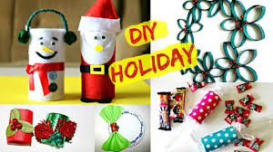 4 christmas decoration u0026 gift ideas using toilet paper rolls youtube