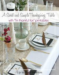 Simple Thanksgiving Table Settings Sweet And Simple Thanksgiving Table Setting Over The Big Moon