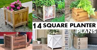 Wooden Planter Box Plans Free by 14 Square Planter Box Plans Best For Diy 100 Free