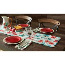 the pioneer woman country garden tablecloth round 70