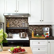 Smart Tiles Bellagio Keystone  In W X  In H Peel And - Peel and stick kitchen backsplash tiles